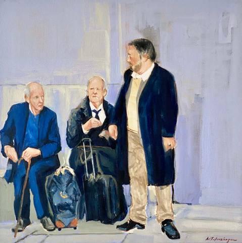 Bilde av Vente V av Asbjørn Petershagen
