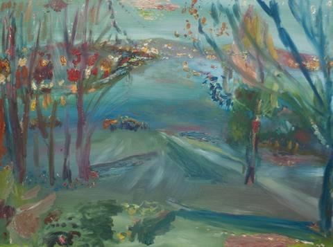 Bilde av Desember, maleri  av Harald Lyche