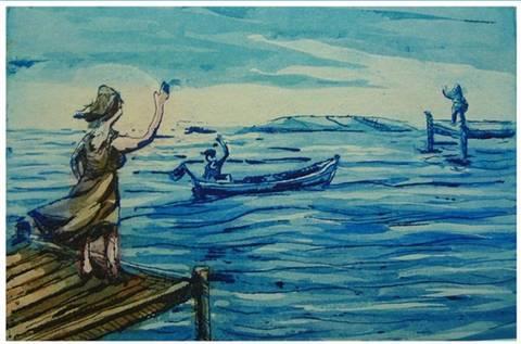 Bilde av En kvinne i hver havn av Kristian Finborud