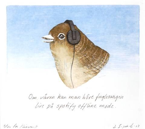 Bilde av Om våren ... av Einar Sigstad