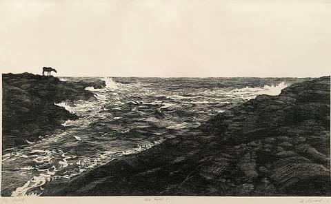 Bilde av Ved havet av Einar Sigstad m/ramme