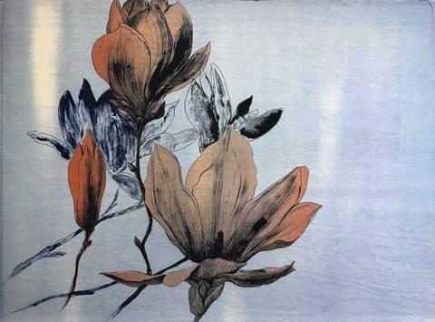 Bilde av Floating magnolia av Gro Mukta Holter m/ramme