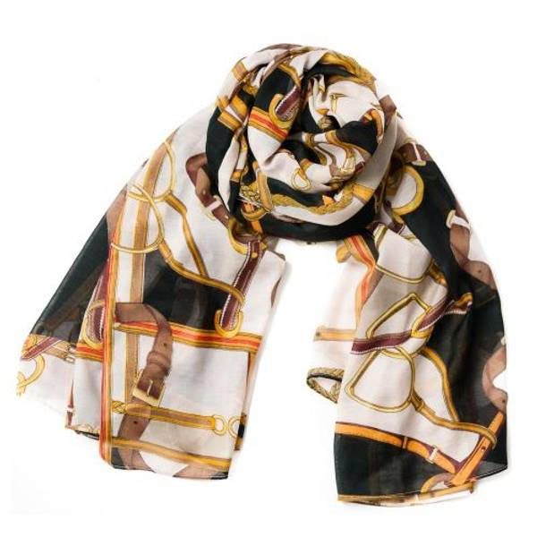 SCARF, CHAIN PRINTED SCARF
