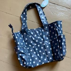 Bilde av Craftbag blå med hviteprikker