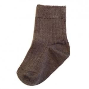 Bilde av Mole, ribbed sock dark brown