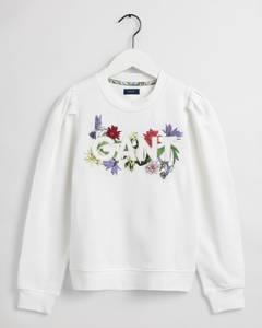 Bilde av Gant, genser blomster hvit