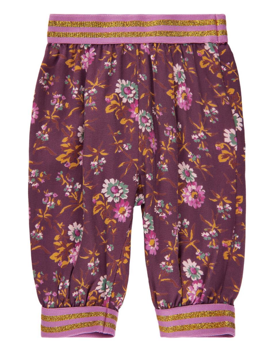 Bukse baby floral bordeaux