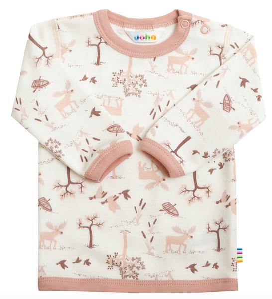 Bilde av genser ull/bambus natur rosa