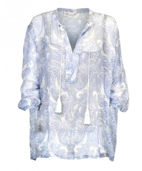 Bilde av bluse lone blue paisley