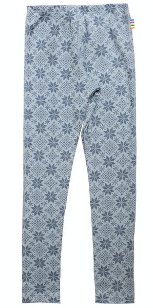 Bilde av leggings ull snøkrystall blå