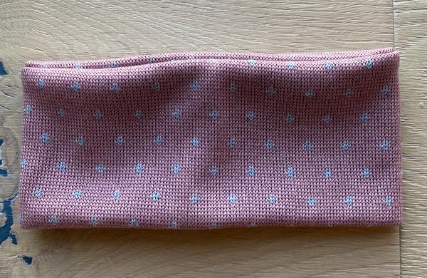 Bilde av pannebånd merinoull rosa med