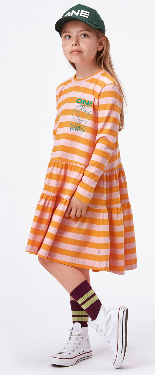 Kjole chia citrus stripe