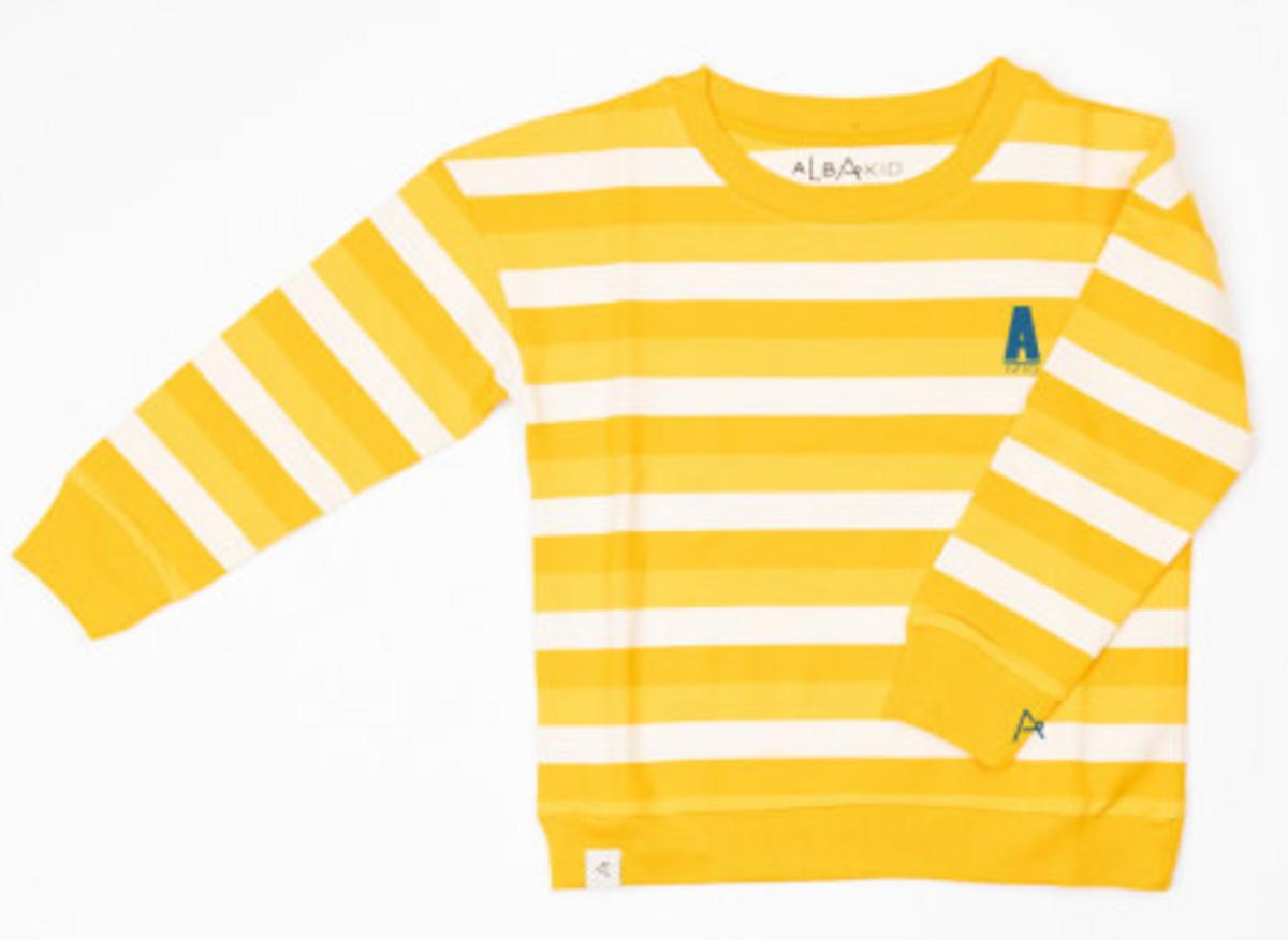 Genser sean daffodil stripes