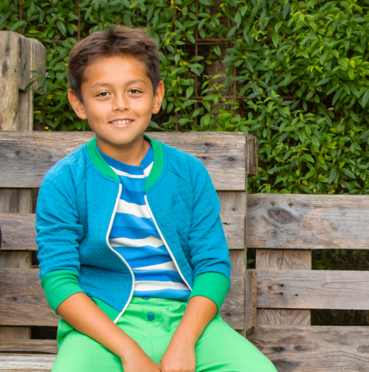 Genser our favorite rib blouse snorkel blue stripes