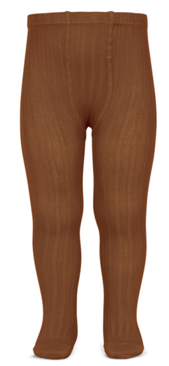 Strømpebukse cóndor rib rustbrun