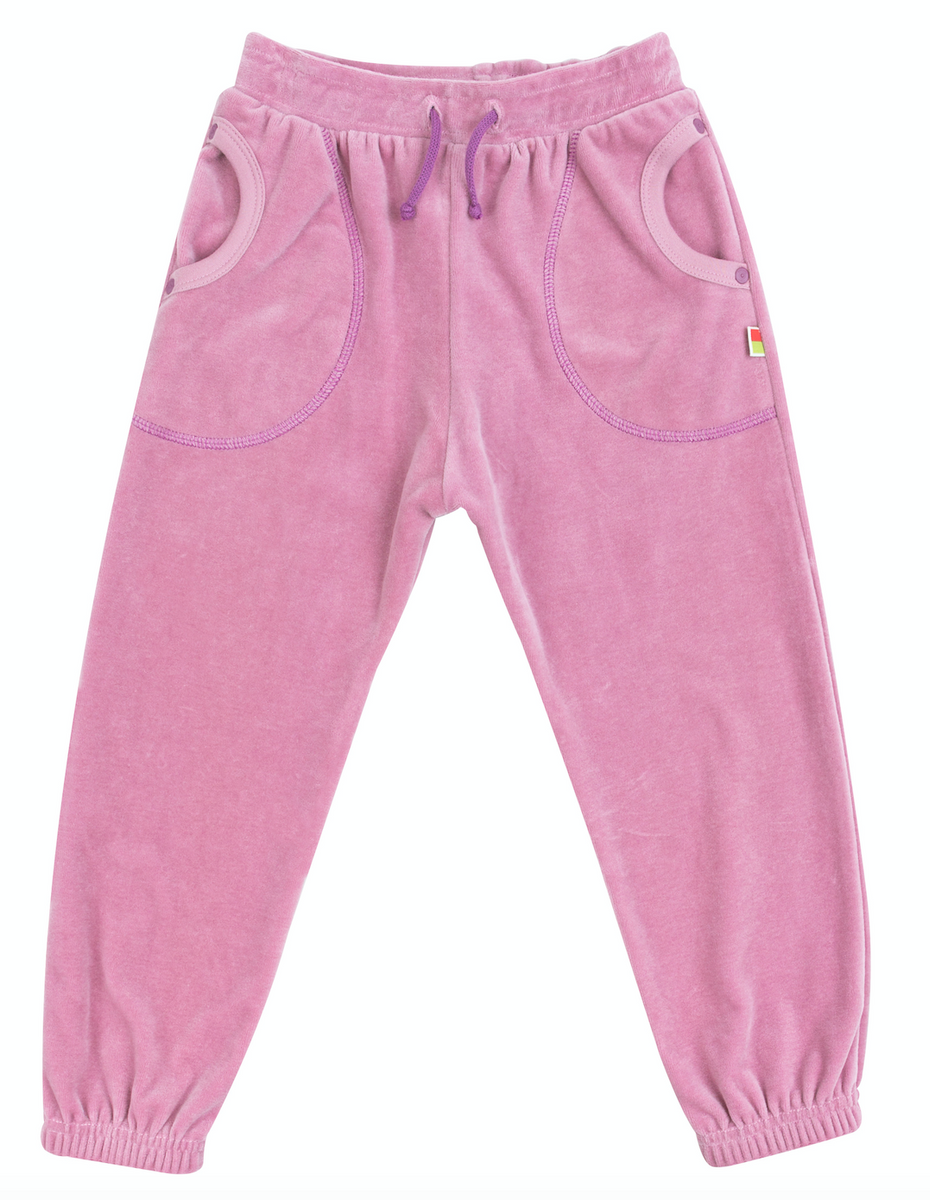 bukse rosa velur