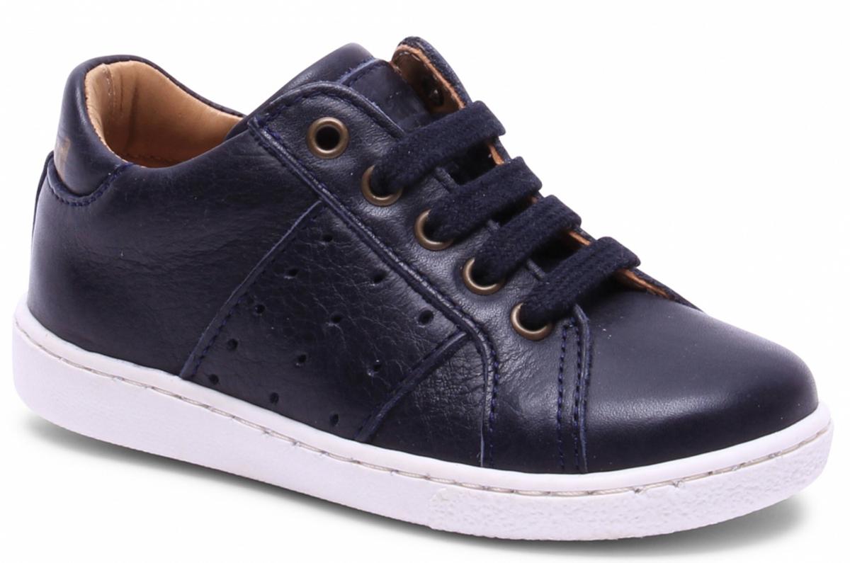sko bisgaard lav marine med knytting