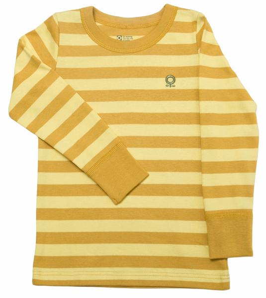 Bilde av Genser øko gul striper