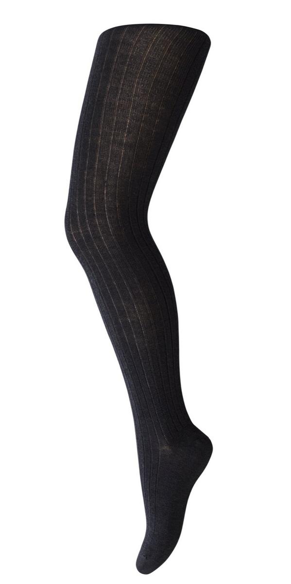 Strømpebukse mp ull med ribb black