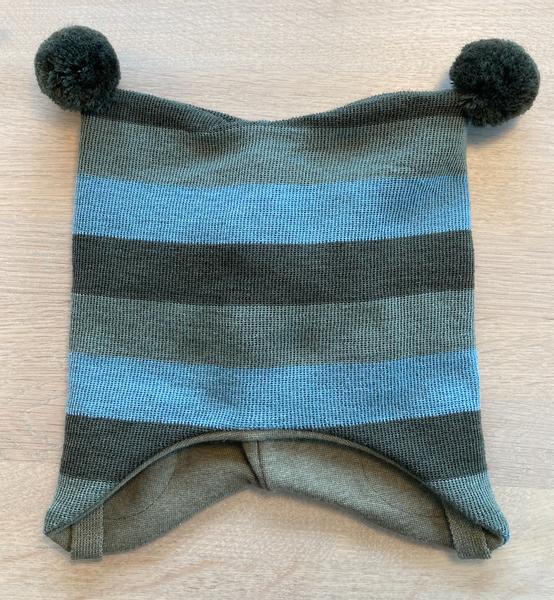 Bilde av lue ull knytting bred stripe