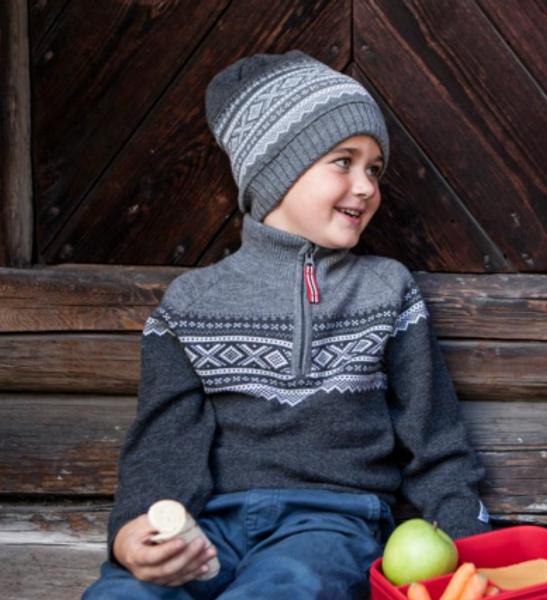Bilde av genser ull marius glidelås
