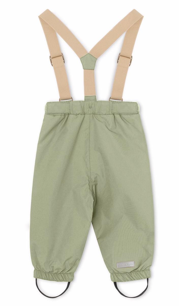Wilans suspenders oil green
