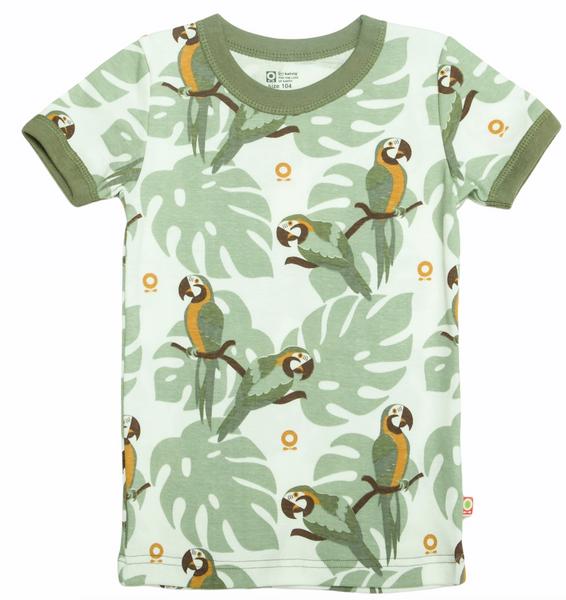 Bilde av T-skjorte papegøye grønn