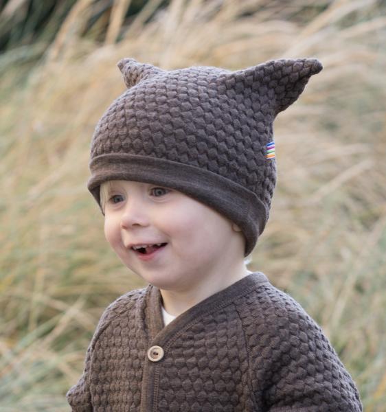 Bilde av lue ull bubble knit brun