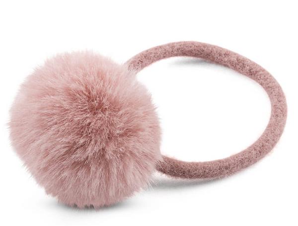 Bilde av Hårstrikk med dusk rosa