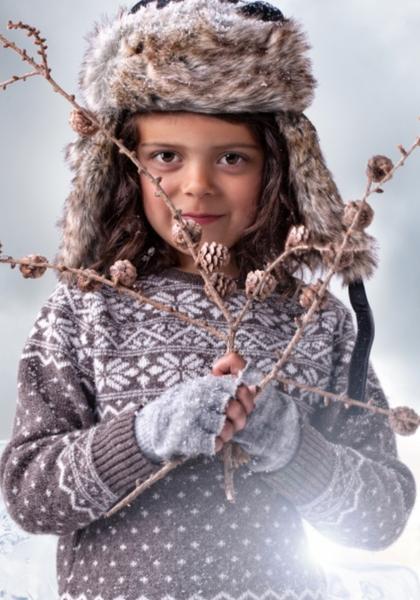 Bilde av Genser Blink ull brun