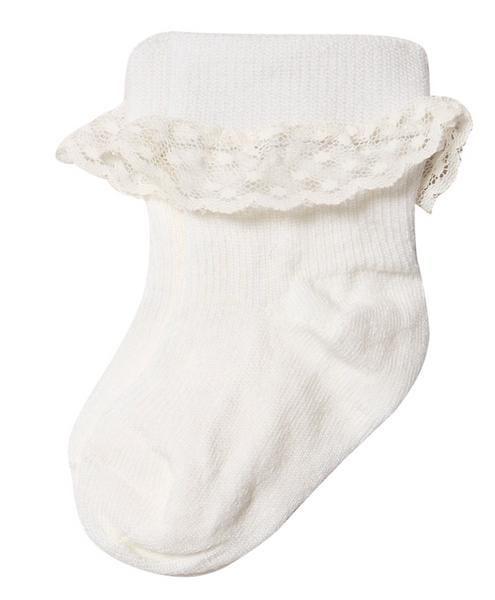 Bilde av Sokker med blonder ull