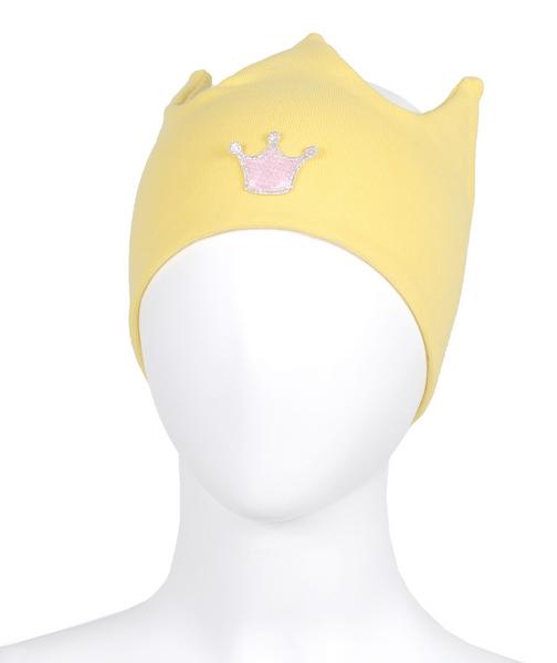 Bilde av Pannebånd gul med rosa krone