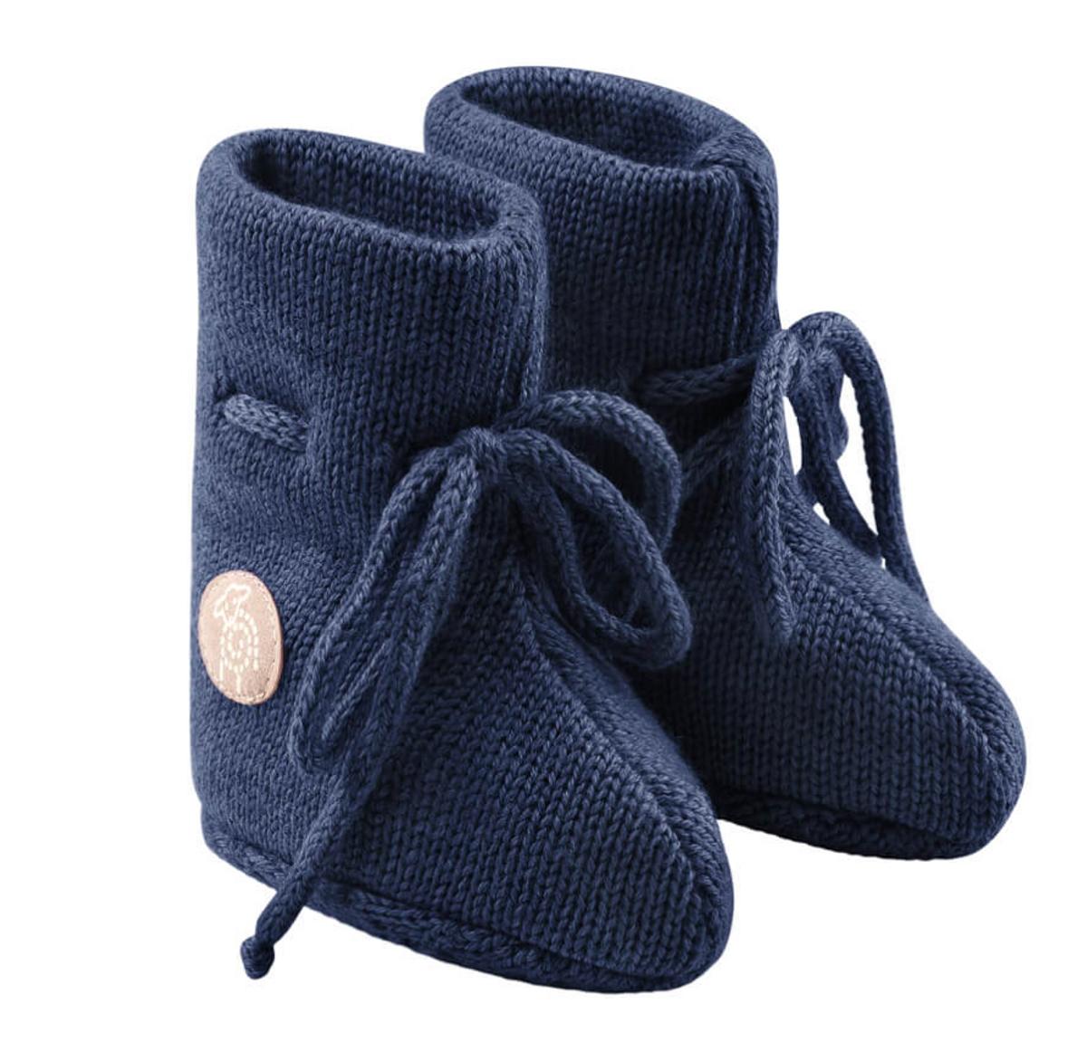 Babytøfler ull classic blå