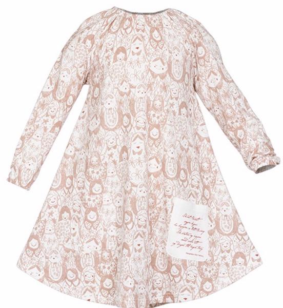 Bilde av sisi kjole matrjosjka rosa