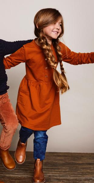 Bilde av kjole enfant leather brown