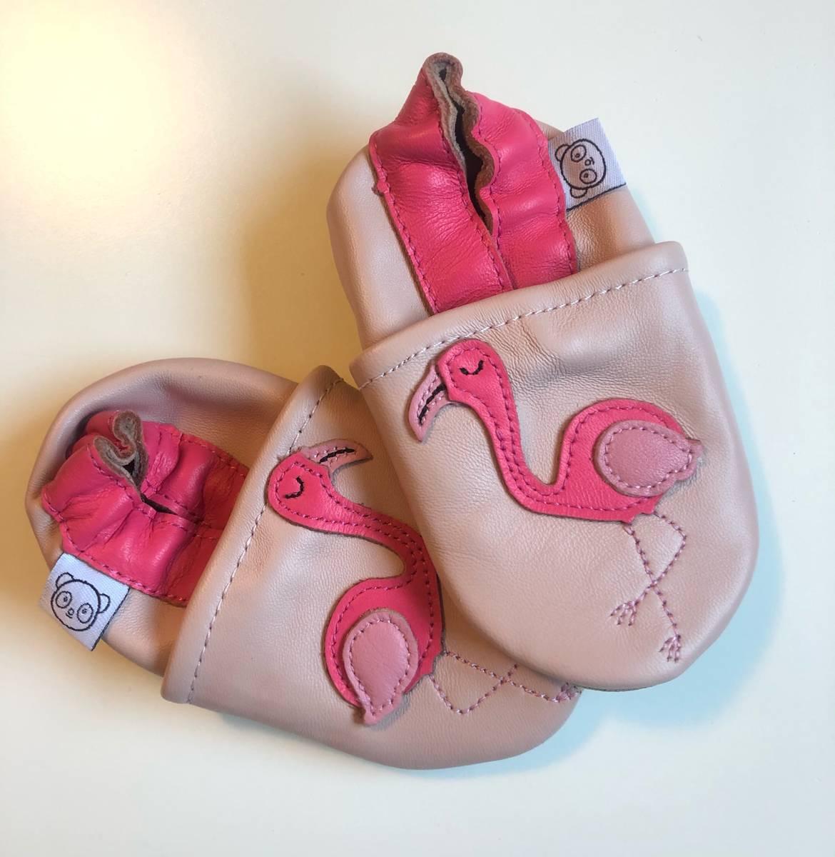 Tøffel flamingo rosa panda feet