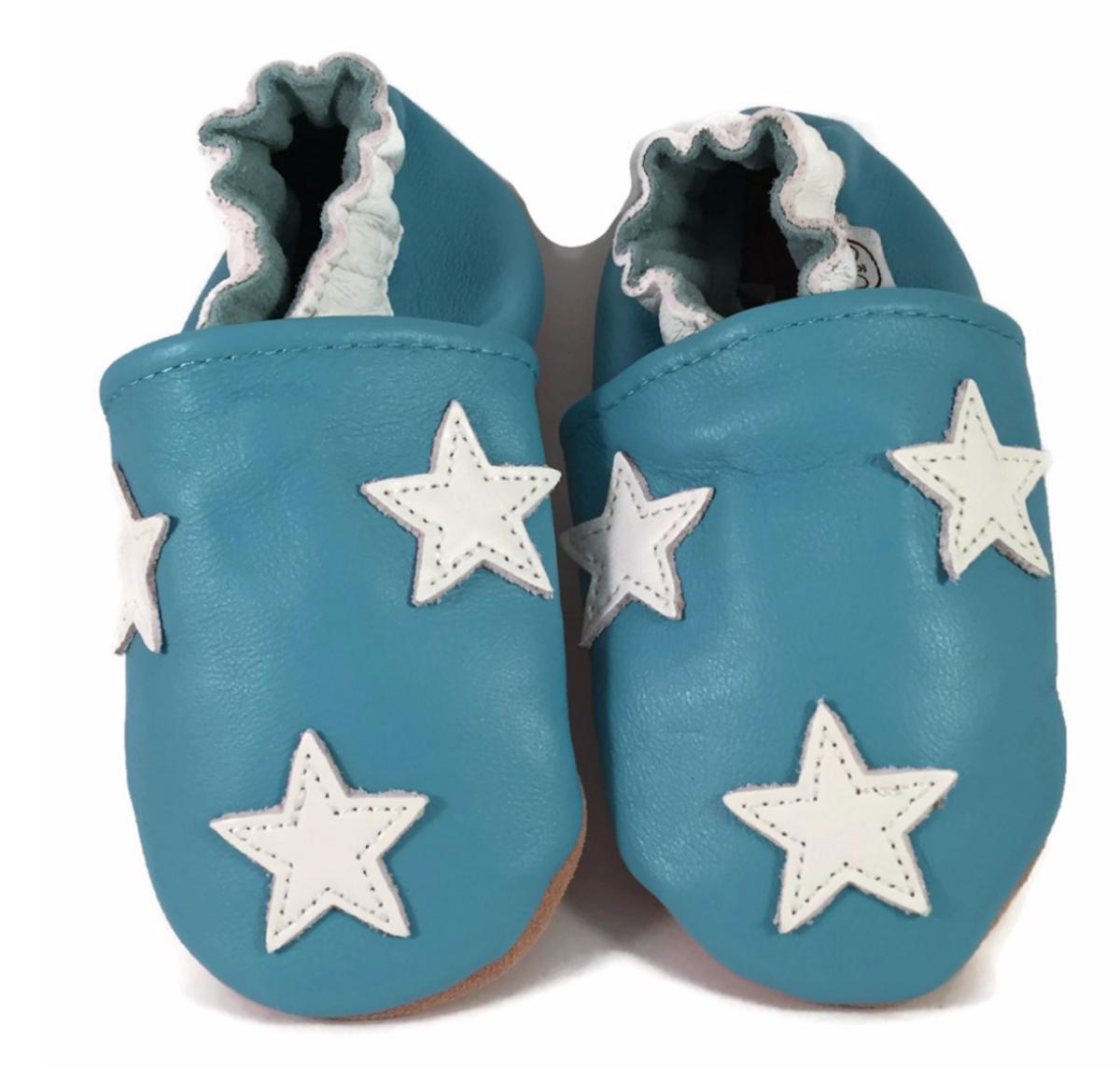 Tøffel blå stjerne panda feet