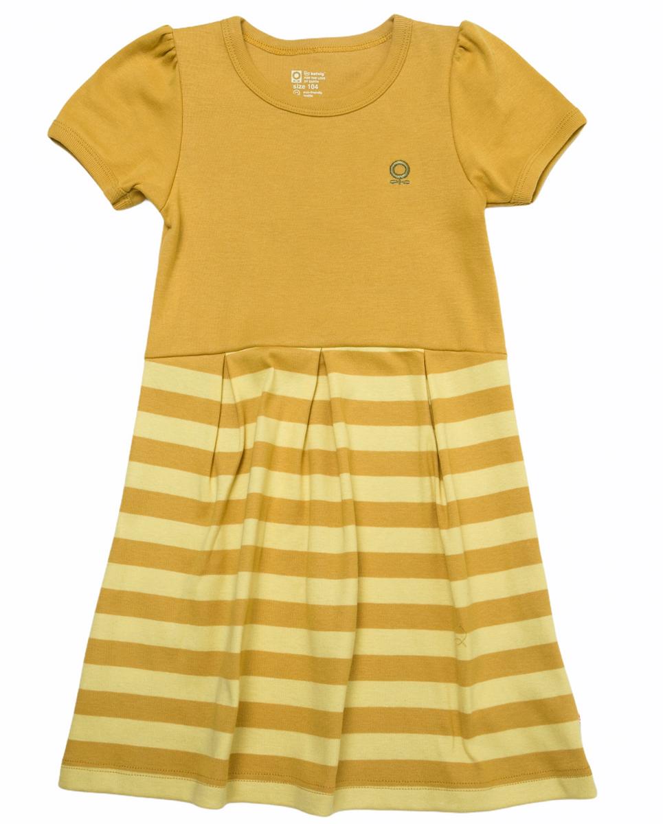 Kjole øko gul striper