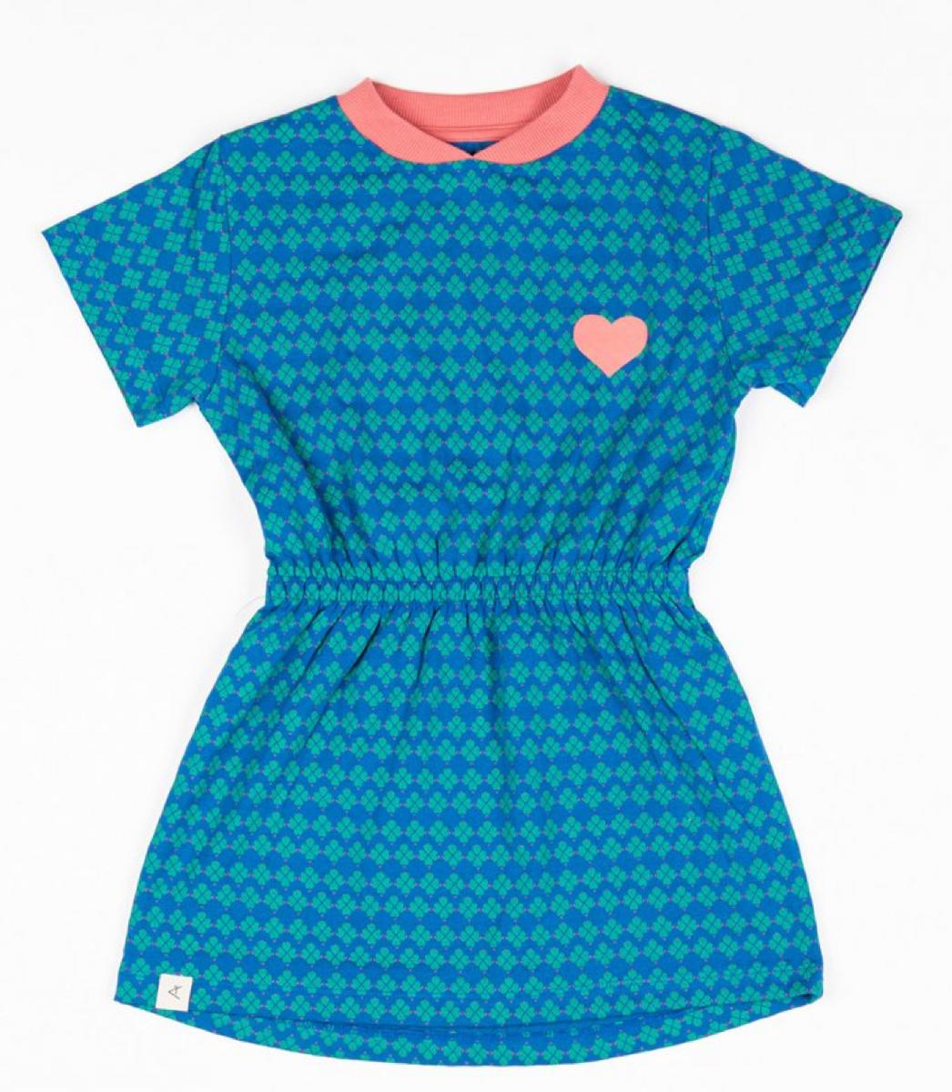 kjole kaya snorkel blue flower hearts
