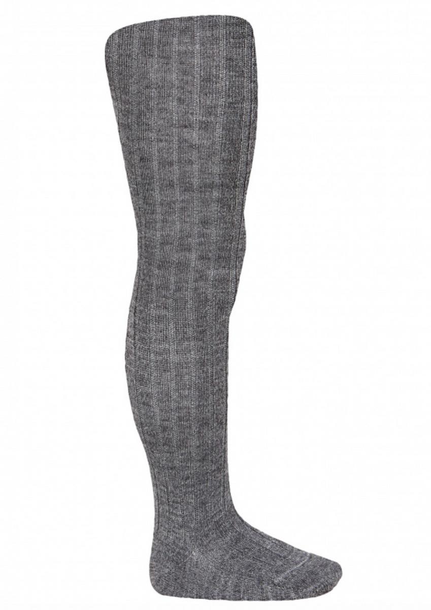 Strømpebukse ull koksgrå cóndor rib
