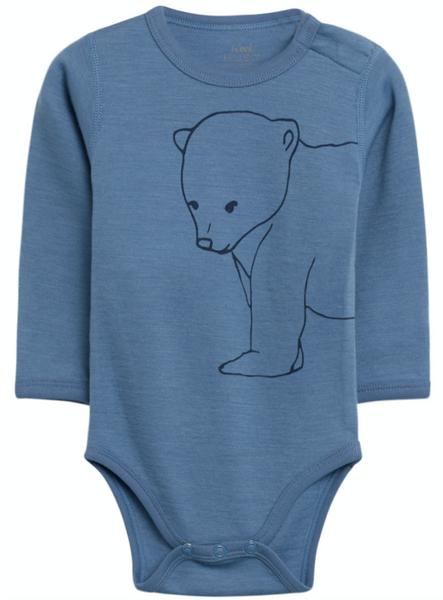 Bilde av Body ull bo isbjørn blue