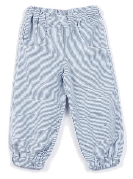 Bilde av bukse blå/hvit stripete øko