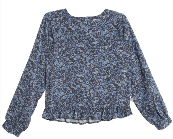 Bilde av bluse grit greyblue