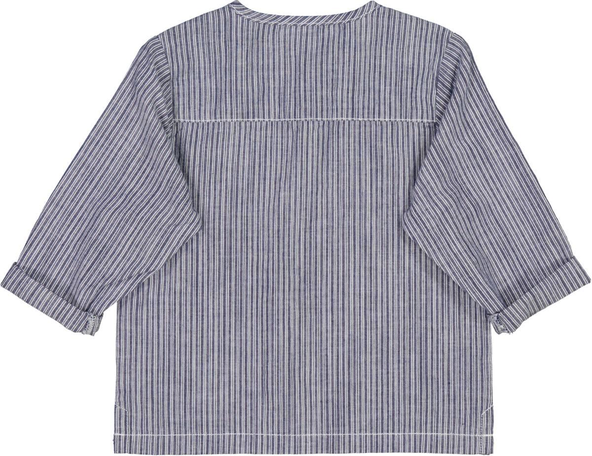 Skjorte bjørk baby cool blue stripe