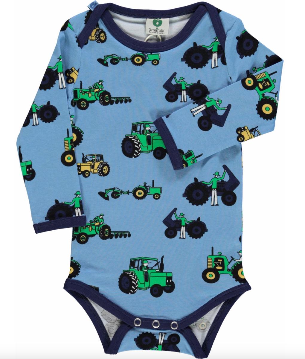 Body med traktor og arbeidsmann sky blue