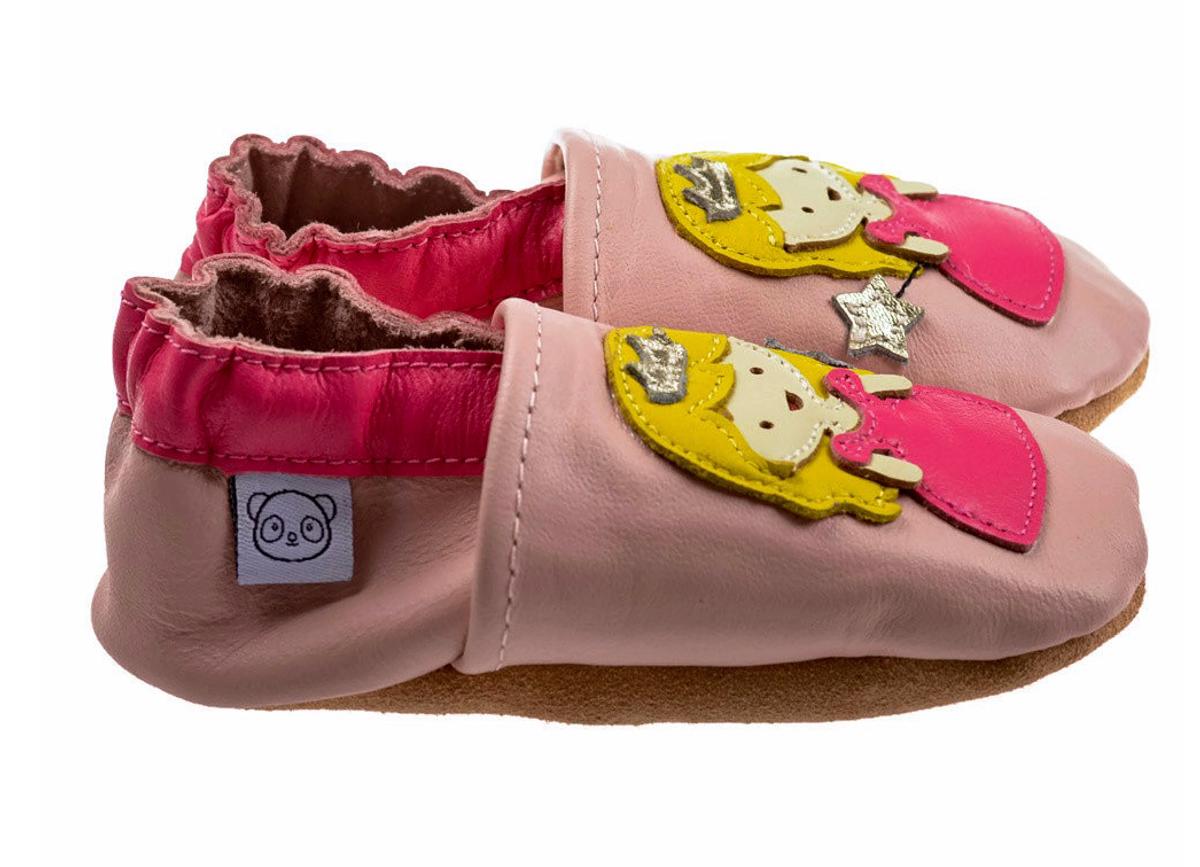 Tøffel prinsesse rosa panda feet