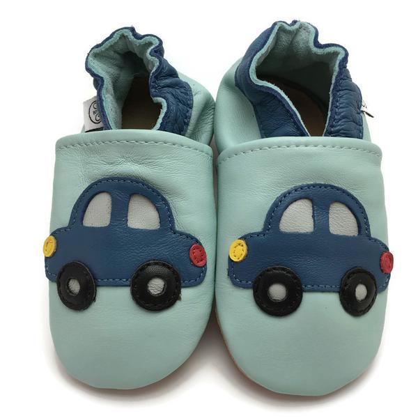 Bilde av Tøffel bil blå panda feet