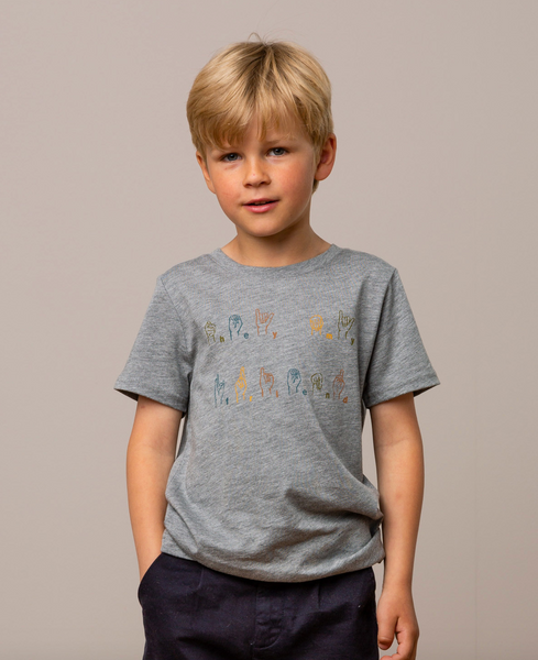 Bilde av t-skjorte ted grey melange