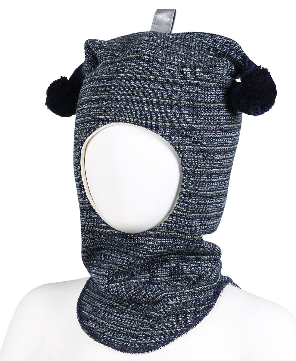 balaklava ull stripe blåoliven