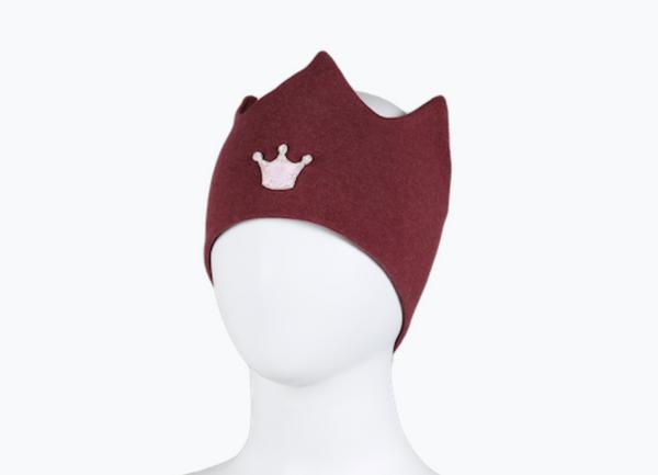 Bilde av Pannebånd burgunder med krone